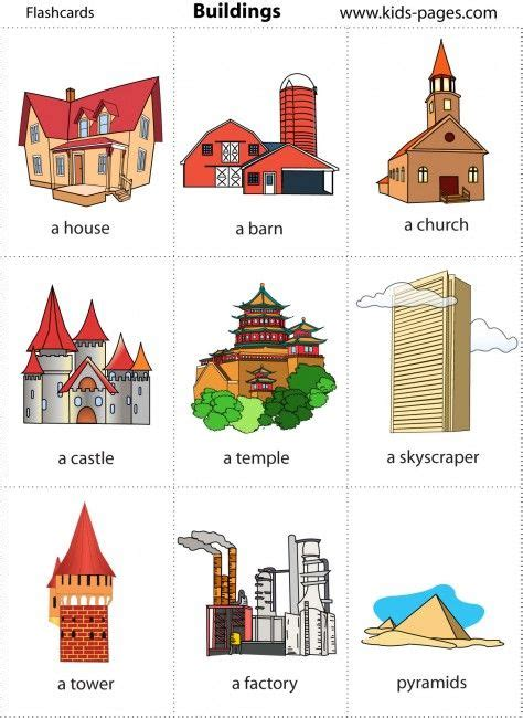 themes en english places free flashcards construction theme pinterest