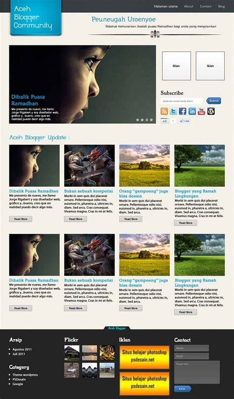 desain layout halaman web download template desain website dengan photoshop