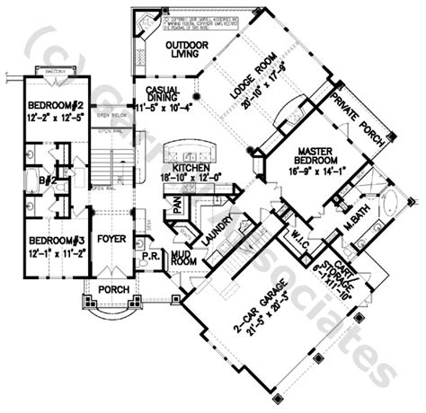 wheelchair accessible style house plans 07379 stone gap cottage house plan 1st floor plan mountain style house plans