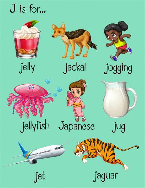 objetos que empiecen con la letra g imagui las palabras comienzan con la letra j descargar vectores