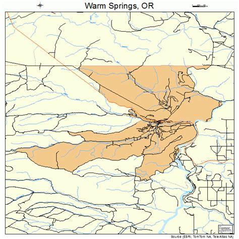 oregon springs map warm springs oregon map 4178600