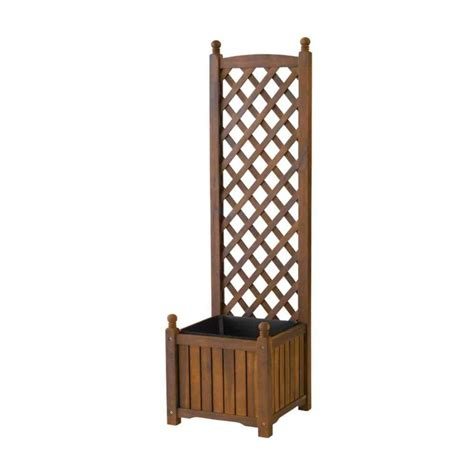 dmc 16 in square teak wood planter with