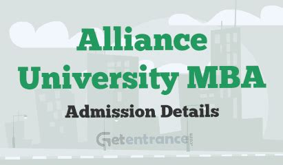 Is Alliance For Mba by Alliance Mba Admission 2016 Getentrance