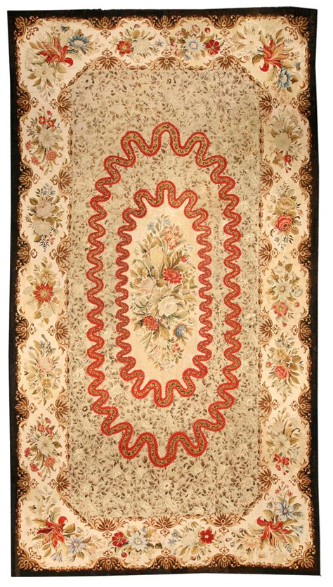 Needlepoint Rugs by Needlepoint Carpet European Rug Antique Rug Bb0648
