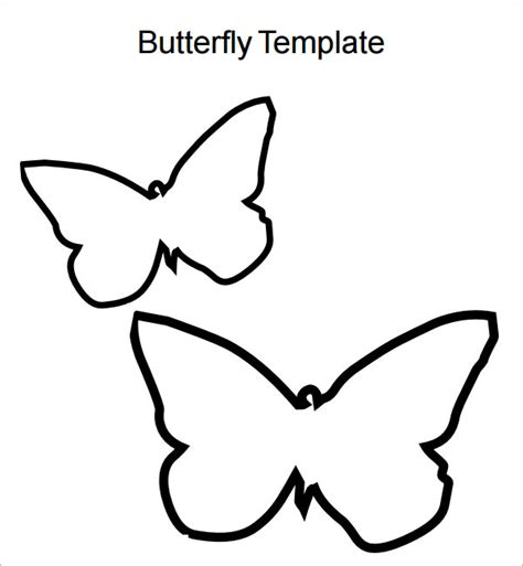 template of butterfly to print butterfly template 9 free pdf