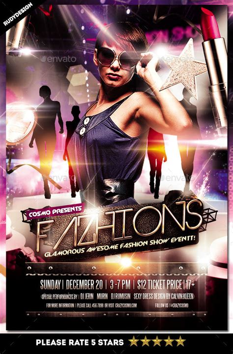 free templates for fashion show flyers fashion show flyer by rudydesign graphicriver