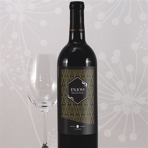 Black Opulence black and gold opulence wine label the knot shop