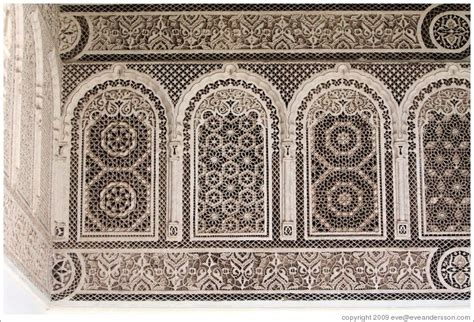 Home Interior Desing wall pattern in a courtyard bahia palace photo id 15219