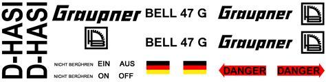 Aufkleber Drucken Vorschau by Interessengemeinschaft Graupner Bell 47g Aus Den 70er Jahren