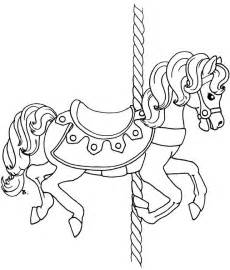 free coloring pages of carousel horses carousel outline coloring coloring pages