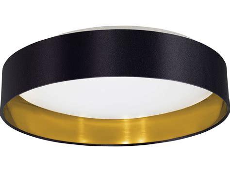 Lu Led Plafond eglo maserlo black gold 16 wide led semi flush mount