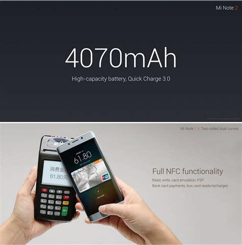 Xiaomi Mi Note 2 Black 64gb Garansi Distri 1 Tahun xiaomi note 2 4gb 64gb smartphone silver