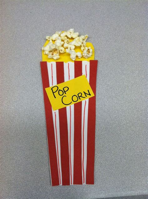 popcorn crafts for popcorn craft for preschool p week