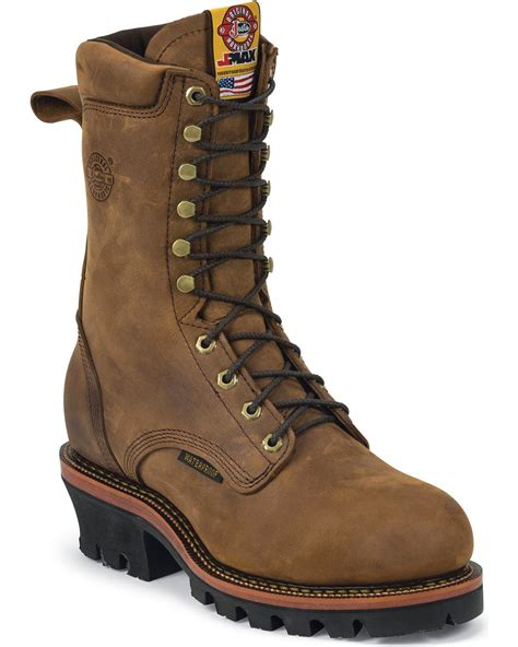justin steel toe lace up boots justin j max waterproof 10 quot lace up work boots steel toe