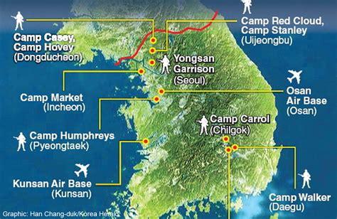 us air bases in korea map map of us cs in korea fidor me
