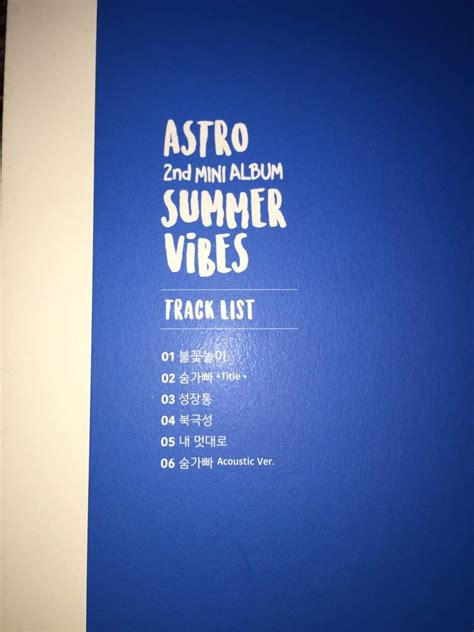 Astro Summer Vibes 2nd Mini Album album unboxing astro 아스트로 2nd mini album summer vibes