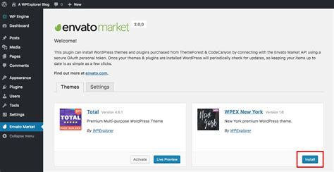 themes wordpress envato how to auto update wordpress themes with the envato market