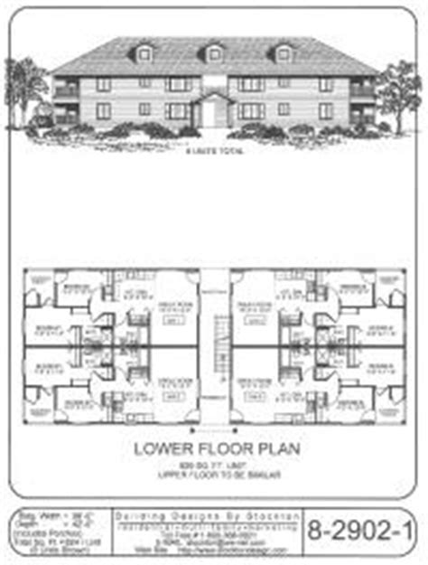 8 plex apartment plans multi family home and building plans