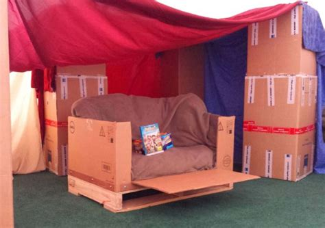how to make a fort on a couch kid s box couch the boxtrolls family movie night while