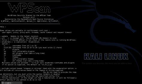 tutorial wpscan kali linux kali linux series wpscan cms identification e blog