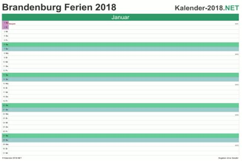 Kalender 2018 Ferien Brandenburg Ferien Brandenburg 2018 Ferienkalender 220 Bersicht