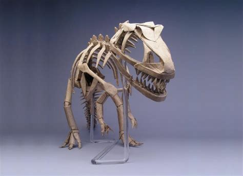 robert j lang origami allosaurus skeleton opus 326 robert j lang origami