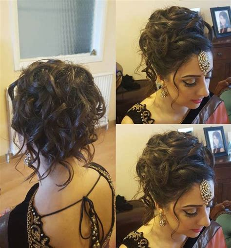 Indian Wedding Hairstyles For Curly Hair Medium by Indian Wedding Hairstyles For Curly Hair Medium