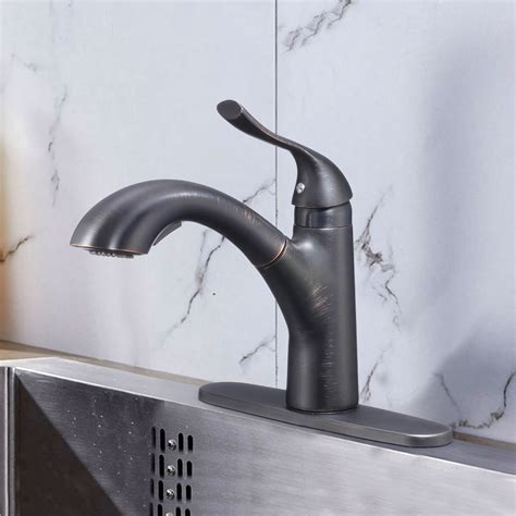 black bronze finished brass kitchen faucet pull out