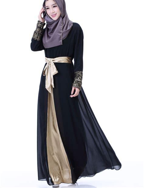 Printing Dress By Fasha Supplier Busana Muslim aliexpress buy 2017 chiffon muslim fashion islamic abaya dresses for dress