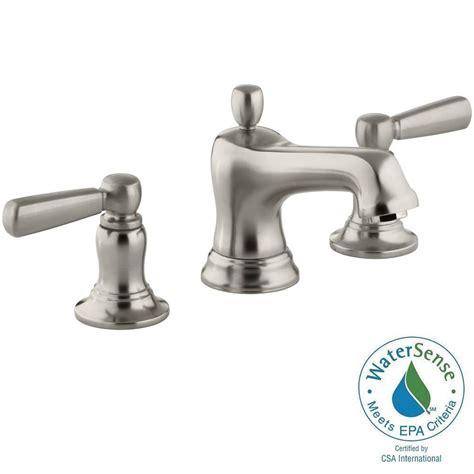 kohler bancroft bathroom sink faucet kohler bancroft 8 in widespread 2 handle low arc bathroom