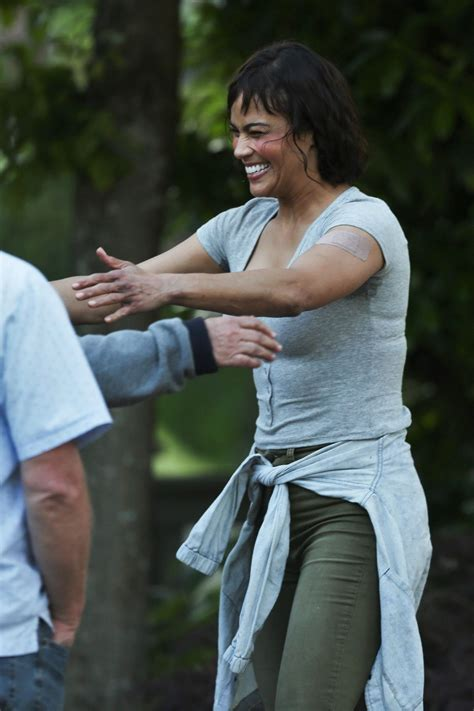 Paula Set paula patton on the set of somewhere between in vancouver canada celebzz
