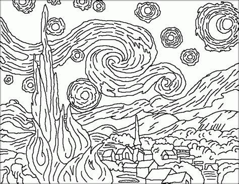 Van Gogh Coloring Pages Image Coloring Van Gogh Coloring Gogh Coloring Pages