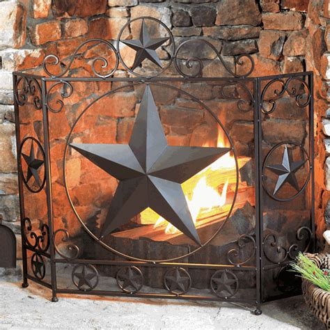 Lone Home Decor by Western Furniture Lone Fireplace Screen Lone