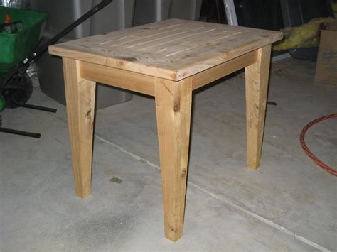 Patio Table Plans Pdf Diy Simple Outdoor Side Table Plans Shelving Plans Free Woodideas