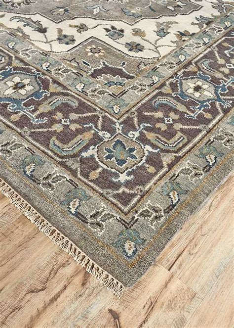 Discounted Rugs For Sale by Feizy Ustad Rectangular Ivory Walnut Area Rug