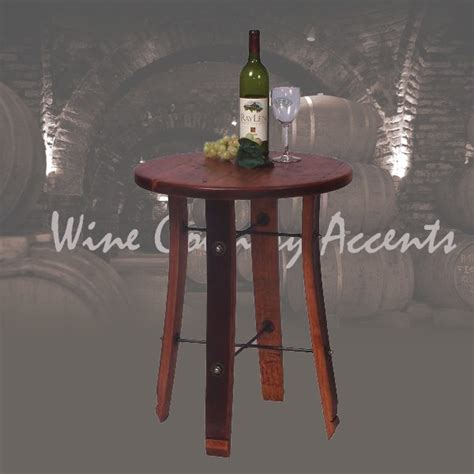 stave end table 4064 stave end table 2 day designs wine barrel