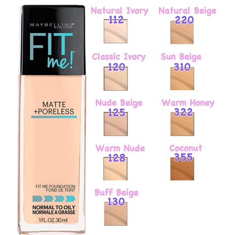 Maybelline Fit Me Foundation Warm maybelline fit me matte poreless foundation warm 1 oz collections best deals