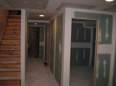 basement drywall finishing with knockdown ceiling texture