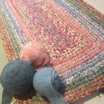 aprende como hacer alfombra trapillo rectangular paso  paso