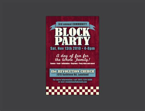 block flyer template hamilton design