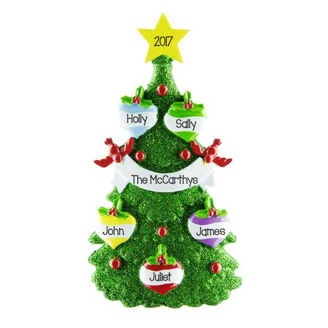 green tree 5 personalised hanging christmas decoration 37