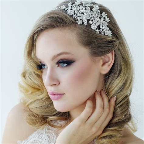 Wedding Hair With Headband by Bridal Headbands Pearl Wedding Headbands