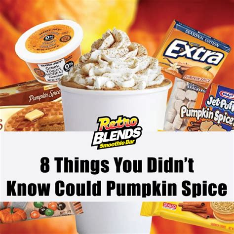 8 things you didn t know could pumpkin spice retro blends