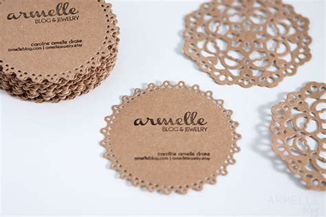 Cricut Business Card diy doily business cards packaging armelle