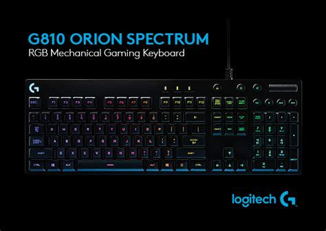 Keyboard Logitech G810 Spectrum introducing our new logitech g810 spectrumblog prod