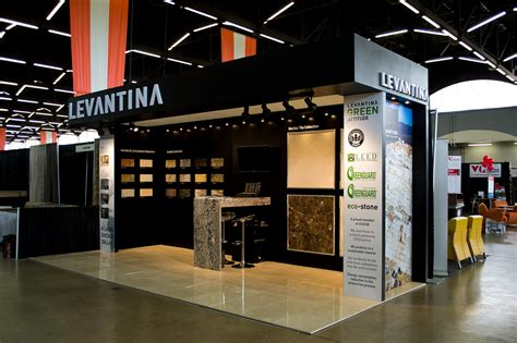 trade show booth design dallas levantina booth on behance
