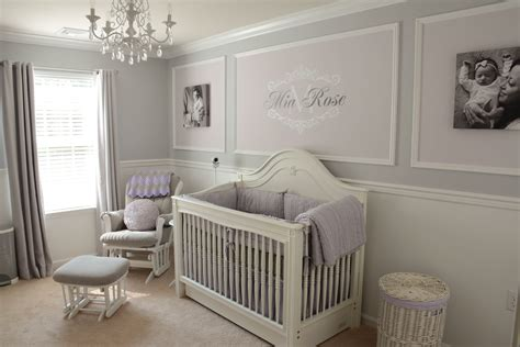Lavender And Grey Nursery Project Nursery Grey Nursery Decor