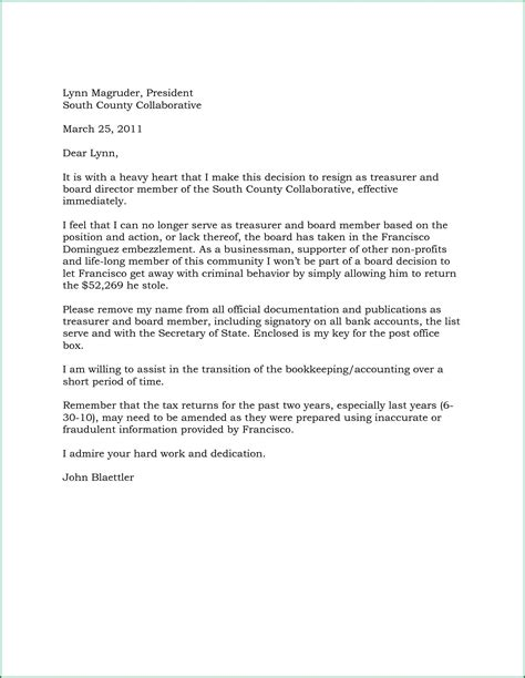 board member application template resignation letter from board of directors template