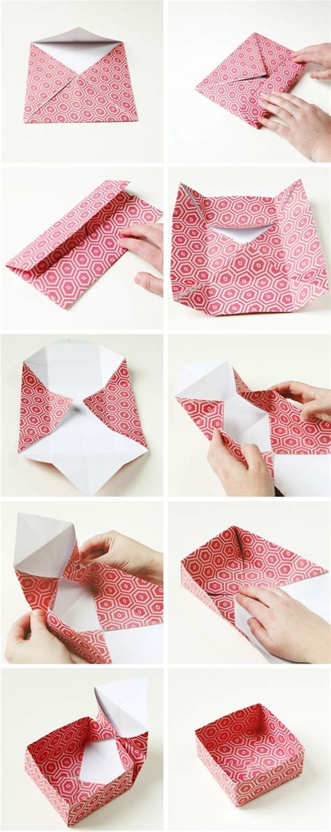 How To Make A Paper Present - diy origami gift boxes gathering