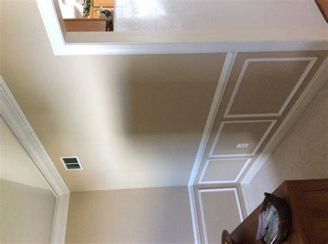 howard s diy moldings in dining room with vaulted ceiling